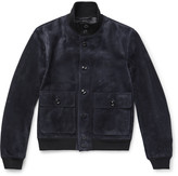 Tom Ford - Slim-fit Suede Bomber Jacket