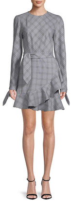 Lea & Viola Plaid Long-Sleeve Dress