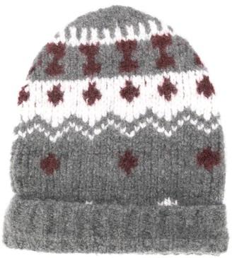 Eleventy embroidered beanie hat