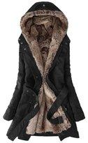 Benibos Women's Thicken Fleece Faux Fur Coat (S, )