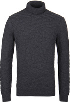 Boss Bertuzzi Charcoal Grey Roll Neck Sweater