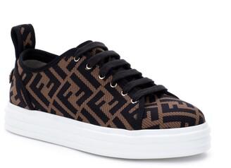 Fendi FF Logo Knit Platform Sneaker