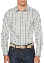 Perry Ellis Check Casual Button-Down Shirt