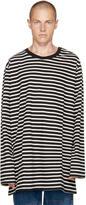 Faith Connexion Black and Off-white Striped Sailor T-shirt