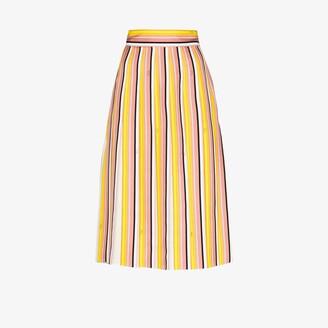 Emilio Pucci Bordo Battistero print pleated midi skirt