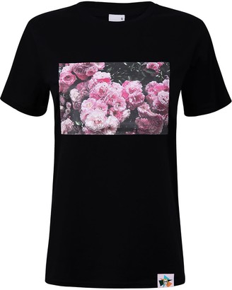 Blonde Gone Rogue Rose Garden Organic Tee In Black