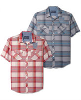 American Rag Shirt, Bond Plaid Short Sleeve Shirt
