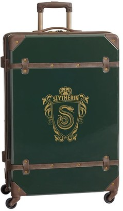 Pottery Barn Teen HARRY POTTER Hard-Sided SLYTHERIN Checked Spinner Suitcase
