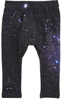 Munster Galaxy-Print French Terry Pants-NAVY