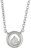 Bony Levy 18K White Gold Diamond Round Solitaire Pendant - 0.07 ctw