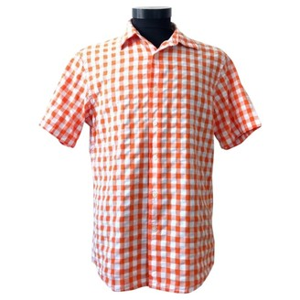 Michael Kors Orange Cotton Shirts