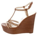 MICHAEL Michael Kors Studded T-Strap Wedges