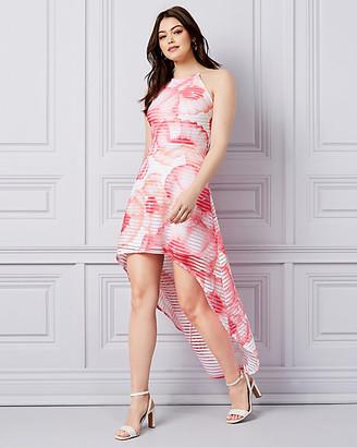 Le Château Floral Print Knit High-Low Dress