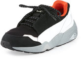Puma Lace Disc Low-Top Sneaker, Black/White