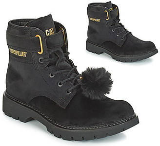 Caterpillar CONVERSION VELVET women's Low Ankle Boots in Black