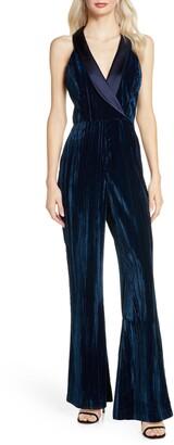 Harlyn Tuxedo Velvet Jumpsuit