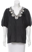 Nanette Lepore Euphoria Embroidered Top w/ Tags