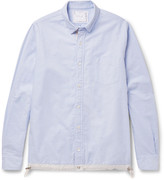 Sacai - Button-down Collar Shell-trimmed Cotton Oxford Shirt