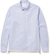Sacai - Button-down Collar Shell-trimmed Cotton Oxford Shirt