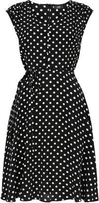 Wallis PETITE Black Polka Dot Dress