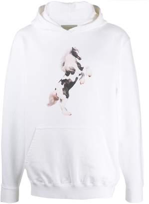 Paura horse print hoodie