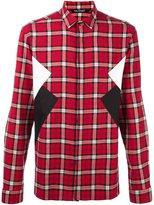 Neil Barrett panelled check shirt