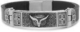 Stainless Steel Two-Tone Owl & Cross Bar Design Bracelet