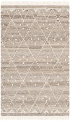 Safavieh Kilim Collection NKM316 Rug, Natural/Ivory, 3' X 5'