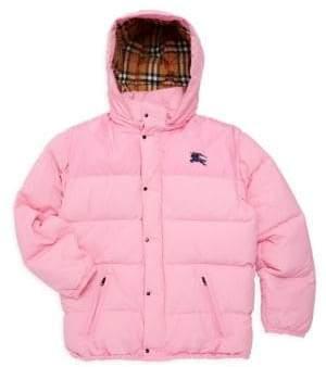 Burberry Little Girl's& Girl's KB6 Ezra Down Puffer Coat - Ice Pink - Size 14