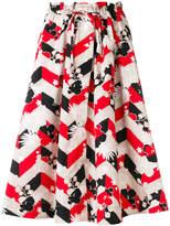MAISON KITSUNÉ printed A-line skirt