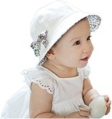 SOLOKA Summer Baby Girl Cotton Hats Flower Print Cotton Sun Hat Baby Fisherman Hat