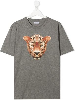 Marcelo Burlon County Of Milan Kids leopard print T-shirt