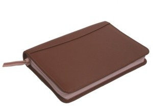 Royce Leather Royce Zippered Travel Document Credit Card Wallet in Genuine Leather