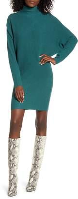Leith Long Sleeve Turtleneck Sweater Minidress