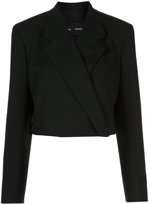 Proenza Schouler Button-Front Cropped Blazer