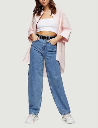 Topshop Oversized cotton-poplin shirt