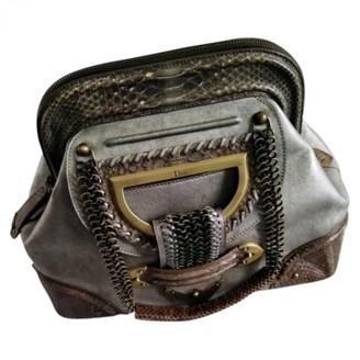 Christian Dior Grey Suede Handbags