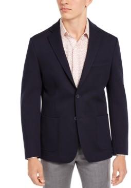 Bar III Men's Slim-Fit Navy Knit Sport Coat, Created for Macy's