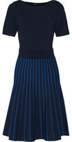 Maje Royaume Striped Ribbed-Knit Dress