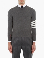 Thom Browne Grey Cashmere Sweater