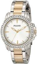 Pulsar Women's PH8093 Night Out Analog Display Japanese Quartz Silver Watch