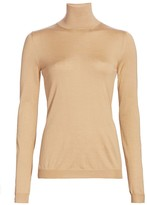 Burberry Cashmere & Silk Knit Turtleneck Sweater