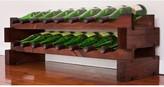 Wine Rack 16 2 Layers of 8 Bottle Width Finish: Matte Stain