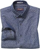 Johnston & Murphy Floral-Print Denim Shirt