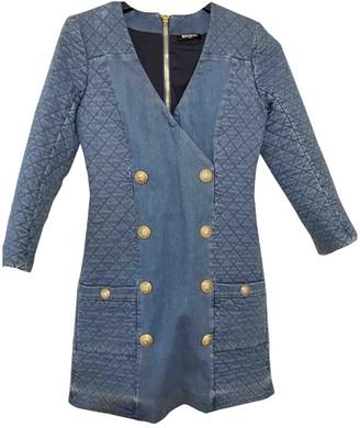 Balmain Blue Cotton Dress for Women