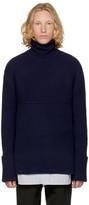 Wooyoungmi Navy Wool Turtleneck