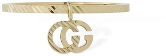 Gucci 18kt Gold Gg Running Ring