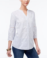 Style&Co. Style & Co Embroidered Blouse, Only at Macy's