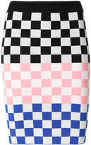 House of Holland checked pencil skirt