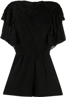 Isabel Marant Ruffled Lace Playsuit
